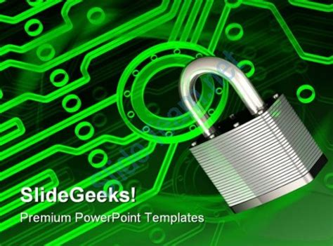 themes powerpoint electronics electronic lock security powerpoint templates and