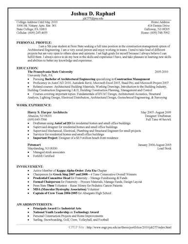 free project based resume template