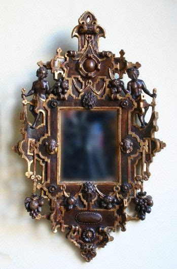 Pied Epingle 1548 by A Carved Renaissance Mirrorframe Grotesque Style Design