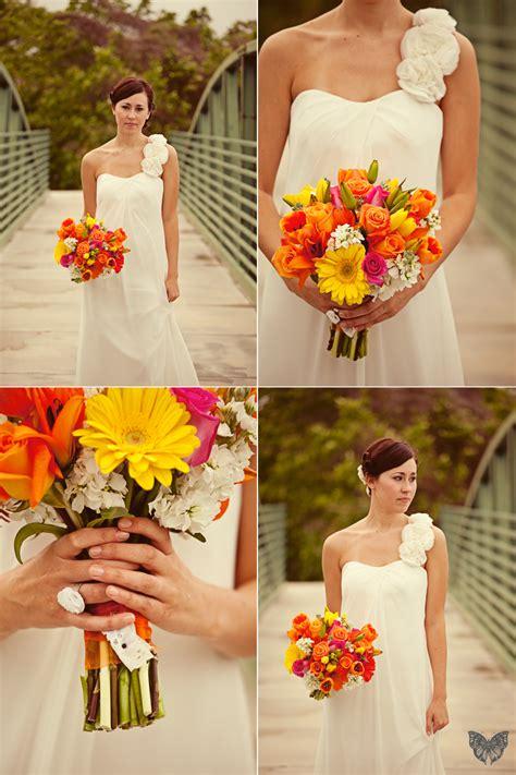 vintage orange teal wedding part    detail