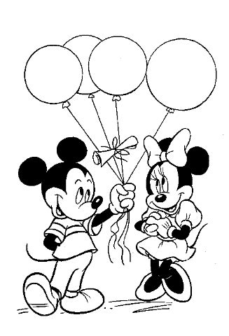 Mickey Mouse Birthday Coloring Page Mickey Mouse Birthday Coloring Pages