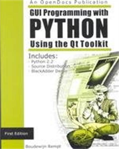 programming with qt book gui programming with python qt edition download link