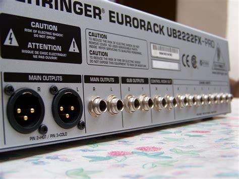 Mixer Behringer Ub2222fx behringer eurorack ub2222fx pro image 270038 audiofanzine
