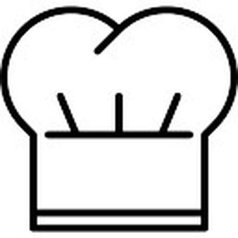 cook hat chef or cooker hat outline icons free