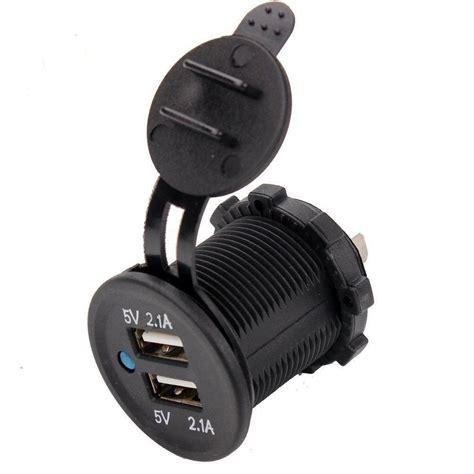 Soket Mobil Expansion 3 12v 24v Socket Blue Led Light On Usb Port china 12v 24v dual port usb charger socket for car and
