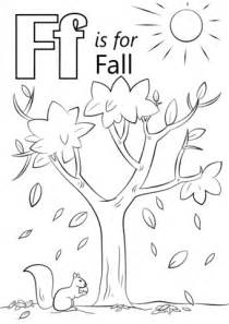 preschool coloring pages letter f letter f is for fall coloring page free printable