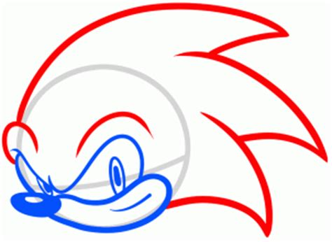 How To A by Drawing Printout How To Draw Sonic Easy