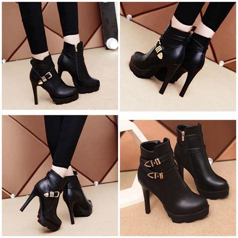 Sepatu 5 11 Boots jual shbb9 black sepatu high boots elegan 11 5cm