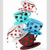 Alice in Wonderland Tea Party Clip Art | Tea Cups Pyramid Royalty Free ...