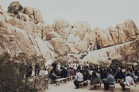 Wedding Ceremony Joshua Tree by Modern Meets Mexico At This Joshua Tree Wedding Green