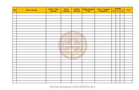 format buku inventaris barang sekolah format inventaris barang gugusdepan sisingamangaraja