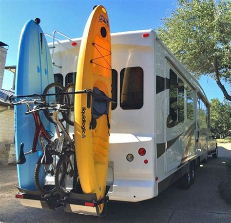 Travel Trailer Kayak Rack by 25 Best Ideas About Rv Bike Rack On Cing Forum Travel Trailers And Trailer