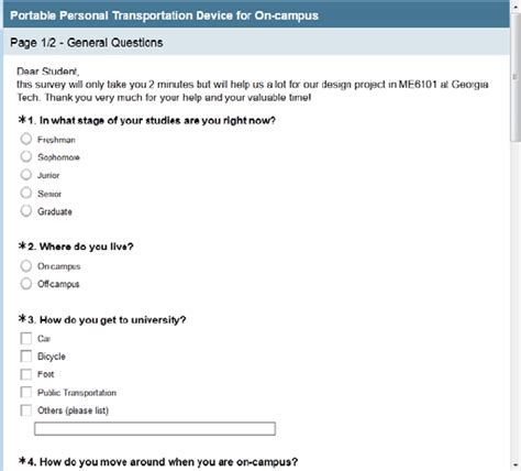tutorial creating and deploying surveys entering a survey title