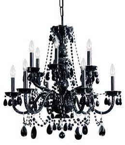 black glass chandeliers crystorama 1135 bk bk mwp black finish black cut