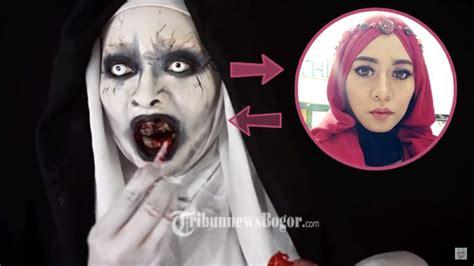 tutorial makeup hantu inilah sosok di balik hantu valak conjuring asal jawa