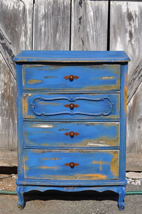 Blue Distressed Dresser by Friday Feature 48 And Mes Pr 195 169 F 195 169 R 195 169 S Redoux