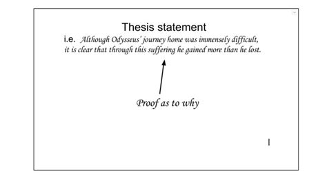 crafting a thesis statement words to start a thesis statement with