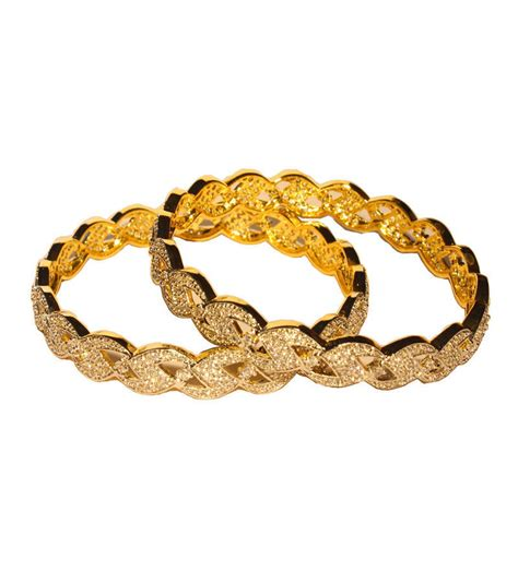 pattern for gold bangles buy exclusive gold plated triangular pattern bangles online