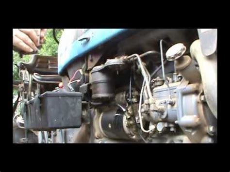 tractor surging   change  fuel filter youtube