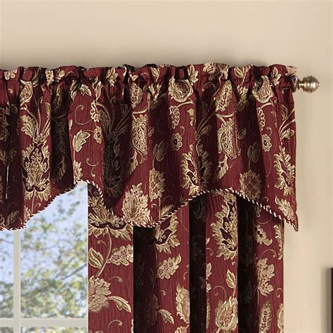 melbourne jacobean floral burgundy chenille window treatment