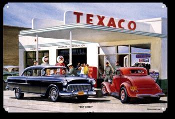texaco sky chief gas station sign by jack schmitt   texaco