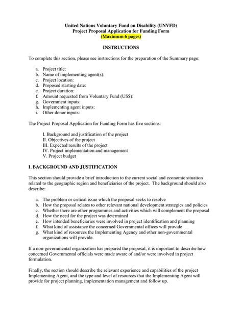Project Proposal Template in Word and Pdf formats