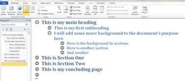 Microsoft Word 2016 Outline View using the outline view in word 2010