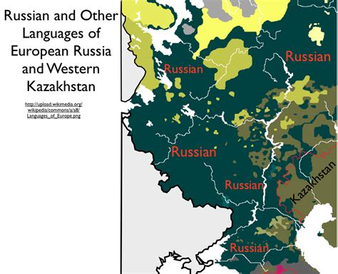 russia linguistic map russian language of russia