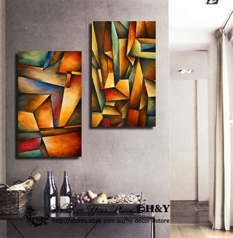 xxcm abstract grid pattern framed canvas print wall