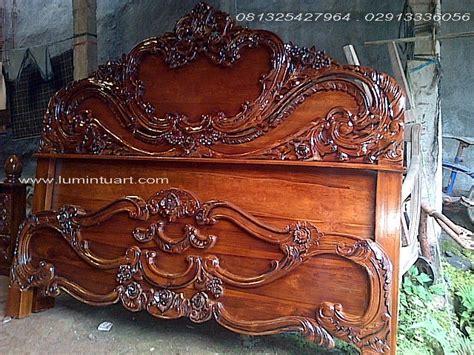 Ranjang Ukiran dipan ranjang tempat tidur kayu jati ukiran arimbi jepara