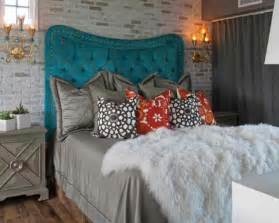 Teal Headboard by Tufted Teal Headboard Eclectic No Place Like Home