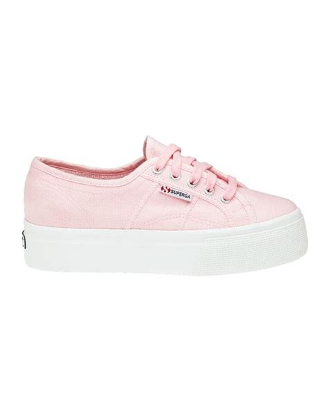 superga platform sneakers superga 2790 pink platform sneakers in pink lyst