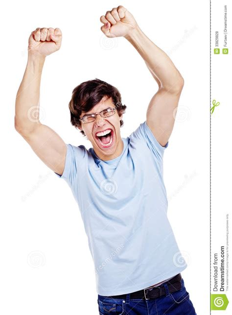 this is one happy guy this is the happiest man that i happy guy winning royalty free stock photos image 33829828