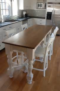 Kitchen Counter Table Design by Island Bench Kitchen Table Afreakatheart