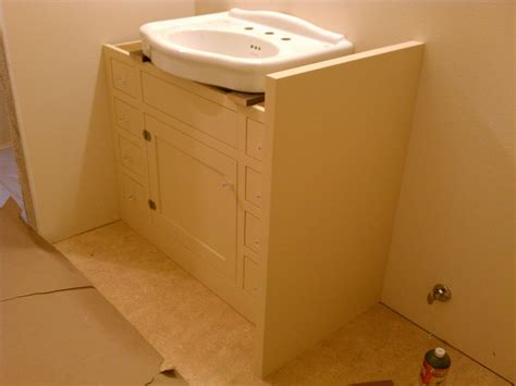 pedestal sink cabinet custom made bath cabinet for pedestal sink by artisan woodcraft inc custommade com