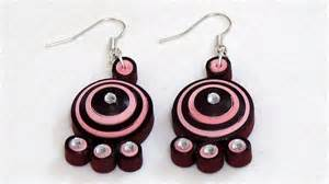 how to make maroon color quilling paper earring light with
