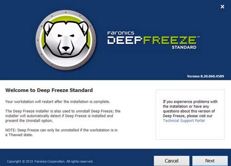 deep freeze full version free download xp download software full version deep freeze standard 8 20