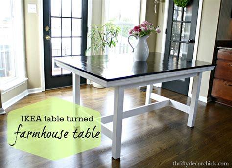 Farmhouse Dining Table Ikea Hack Ikea Hack Diy Farmhouse Table
