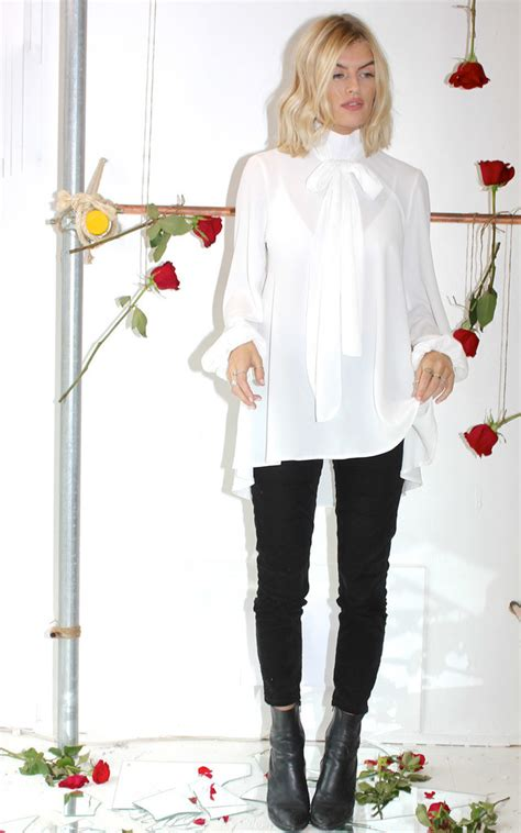 Ivory ***** Bow Blouse   SilkFred