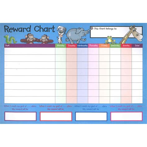 sticker chart a4 reward charts and sticker set pack of 4 key stages