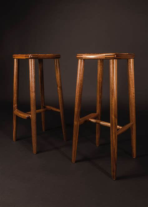 maloof inspired stool school  fine woodworking