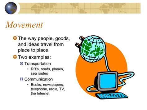 themes of geography movement exles 5 themes of geography