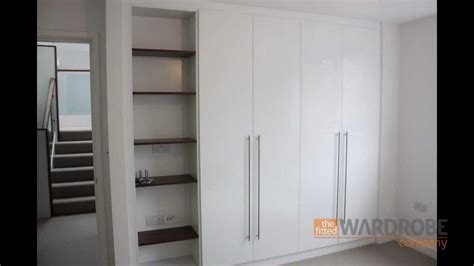 High Wardrobes by Bespoke Fitted Wardrobes High Gloss White With Open