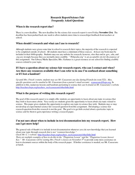 science fair report template search results for science fair report outline