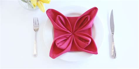 Napkin Origami Flower - how to fold a flower napkin