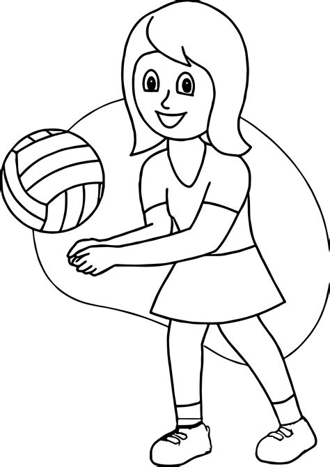 coloring pages volleyball girl girl playing volleyball good coloring page wecoloringpage