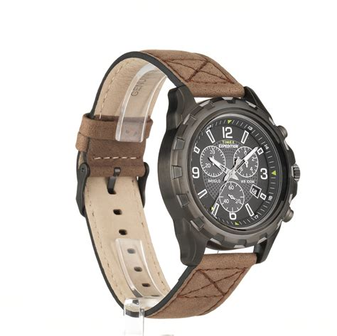 Rugged Outdoor Watches Timex S Expedition Rugged Chronograph Indiglo Leather Outdoor