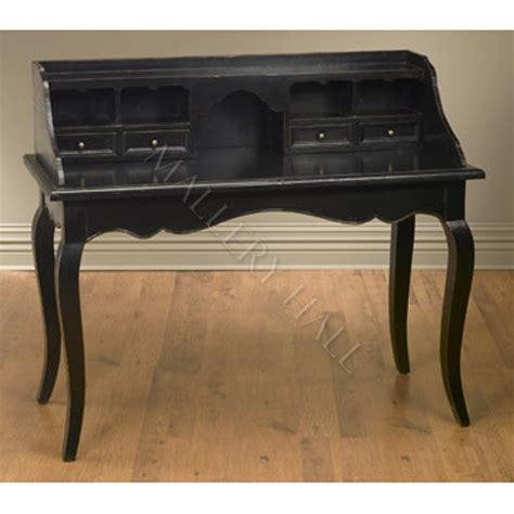 Black Writing Desk With Hutch The Pottery Writing Desk