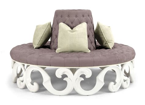 round sofa cushions round gray velvet couch with pedestal back also cream
