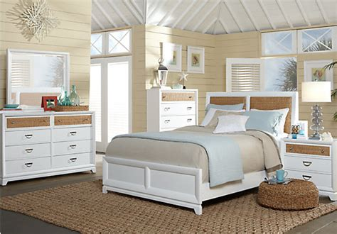 coastal view king white 5pc panel bedroom bedroom sets